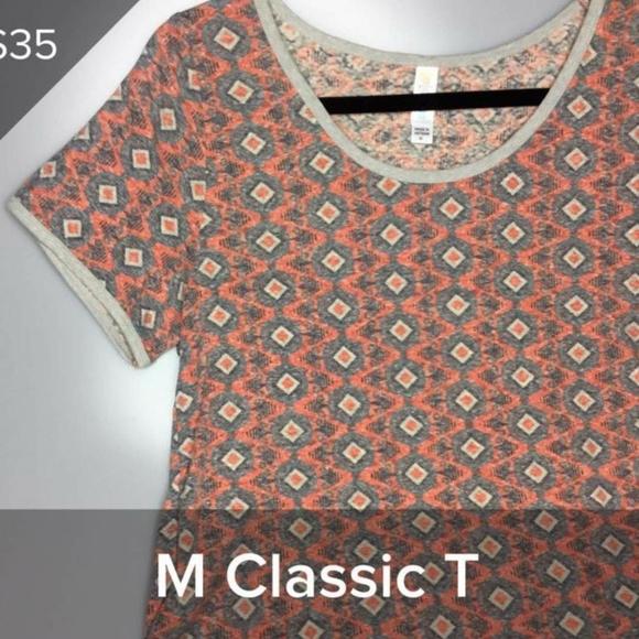 LuLaRoe Tops - LulaRoe classic T southwestern design orange sz M